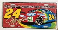 Jeff Gordon 1997 NASCAR Winston Cup Champion License Plate, Sealed
