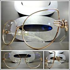 VINTAGE RETRO Style Clear Lens EYE GLASSES Rose Gold & Transparent Fashion Frame