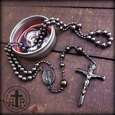 Gunmetal Military Rosary - WWI Service Combat Rosary