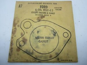 52-63 Ford Passenger Edsel 6cyl Water Outlet Gaskets (4) STANT A7