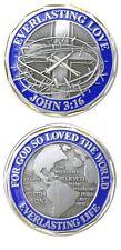 JOHN 3:16 Challenge Coin Token religious Christian Everlasting Love Jesus