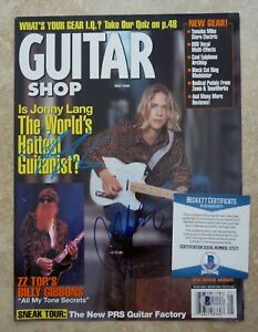 Jonny Lang DOUBLE Signed Autographed Magazine Cover Photo Beckett Certified