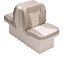 Boat Seat Back To Back Tan & Beige High Grade Premium Lounger  UV Treated Vinyl