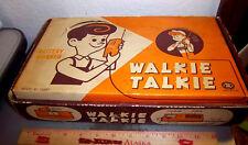"vintage Handy Walkie Talkie set, ""Modern Toys"" Made in Japan, 1960s New in Box!"