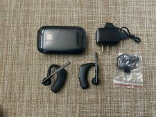 New listing Lot Of 2 X Plantronics Voyager Bluetooth Headset + Charging Cable + Accessories