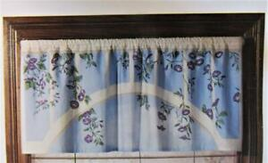 "ENGLISH GARDEN Scene with Morning Glories Cafe Curtain VALANCE ONLY 48"" x 19"""