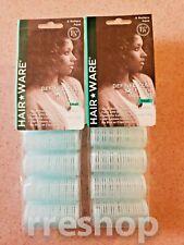 Hair Ware SELF-GRIP ROLLERS 1 1/8 TEAL 6/Pack (Lot of 2)