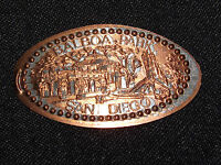 VINTAGE ELONGATED  SOUVENIR COPPER PENNY BALBOA PARK SAN DIEGO