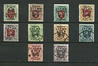 Poland 1919 CENTRAL LITHUANIA used SET