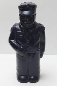 Vintage Plastic Police Man Money Box - Blue - 24.5 cm tall - EVC