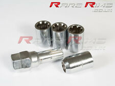 Chrome Tuner Locking Nuts x4 12x1.5 Fits Mazda Mx3 Mx5 Mx6 Rx7 RX8 3 6 5 MPS