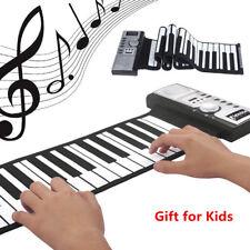 61 keys Roll up Digital Flexible Piano Electronic MIDI Keyboards For Kids Gift