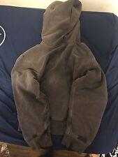 Yeezy Season 3 Fleece Hoodie in Onyx Dark Hoodie Sweatshirt - Mens size Small
