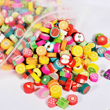 Lots Mini Colorful Polymer Clay Fruits Slices For Kids Toy Slime DIY Decoration