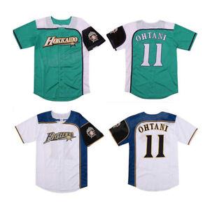 Shohei Ohtani #11 Baseball Jersey Hokkaido Nippon-Ham Fighters White/Green