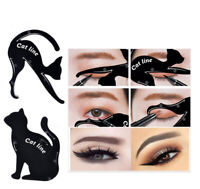 2pcs Cat Line Eyeliner Stencils Cat Eyes Shaper Eye Shadow Model Makeup Template