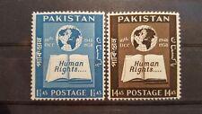 PAKISTAN CLASSICS  Human Rights 1958 mi.nr 99-100 mhinged