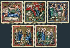 Cook Isls 292-296,296a,MNH. Christmas 1970.Life of Christ from Prayerbook.