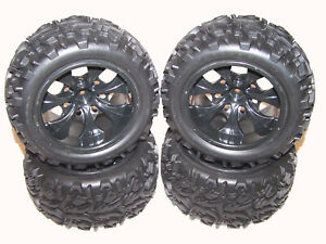 Redcat Volcano EPX Pro 4x4 Brushless Front & Rear 12mm Truck Wheels & Tires 1:10