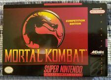 Mortal Kombat SNES Super Nintendo CIB Excellent Condition