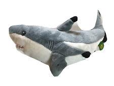 "Wild Republic 14"" Black Tipped Shark Educational Ocean Fish Plush Toy Mint Cond"