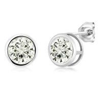 Charles & Colvard 925 Sterling Silver Earrings Forever Classic Moissanite 6.5mm