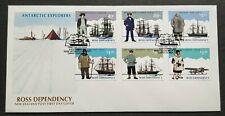 1995 New Zealand Ross Dependency Antarctic Explorers 6v Stamps FDC