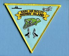 NAF NAVAL AIR FACILITY MIDWAY ISLAND US Navy Base Squadron Cruise Jacket Patch