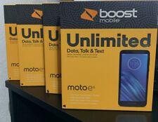 Lot Of 4 BOOST MOBILE Prepaid Smartphone Motorola Moto E6 16GB 1.4GHZ
