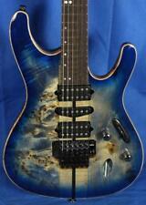 New! Ibanez S Series S1070-PBZ Premium Electric Guitar w/Case Cerulean Blue