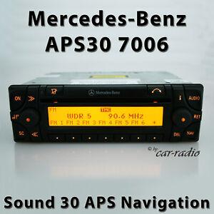 Original Mercedes Sound 30 APS 7006 Navigationssystem Becker Radio A0004460662