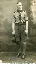 RPPC Boy Scout 1920s ? Uniform, Shorts, Shirts, Studio Portrait scouting