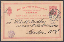 Denmark,Copenhaghen,Cornelius Knudsen(optician): London;Stationery Postcard;1898