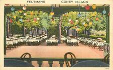 Amusement Feltmans Coney Island Restaurant Bar New York Postcard Tichnor 20-1032