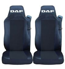 2x Seat Covers for  DAF XF 105 XF 105 CF LF Tailored HGV Truck Lorry Black/Black