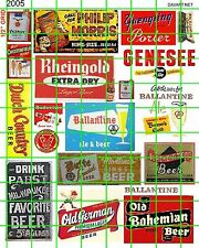 2005 DAVE'S DECALS HO ASST'D BEER POSTERS AND SIGNS BUILDING ADVERTISING SET