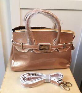 BNWOT Orangey Gold Medium Sized Sparkly Handbag