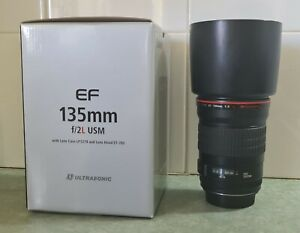Canon EF 135mm f/2.0L USM Lens [EXCELLENT CONDITION ONLY USED FOR 1 HOUR TOTAL]