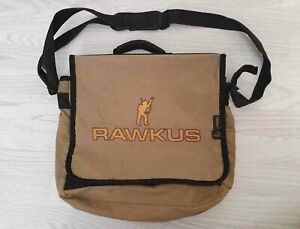 "RAWKUS RECORDS DJ Vinyl 12"" LP Record Bag - Light Green/Khaki Very Rare!"