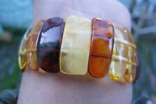 Amber fossil crystal chipped multi shades bracelet elastic  Natural Healing