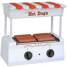 Retro Hot Dog Roller Bun Warmer Adjustable Nostalgia Heat Machine Cooker Grill