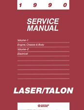 Oem Repair Shop Manual Bound For Plymouth Laser 1990