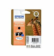 Epson Original T0711H Black High Capacity Ink Cartridge Twin Pack