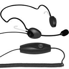 câble Casque tour de cou AirTalk NBS type monophonique PTT-19 Bouton envoyer USB
