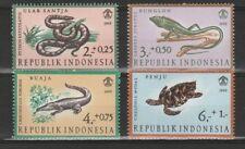 Indonesie Indonesia Zbl 559-62 Reptielen Dieren 1966 MNH Postfris