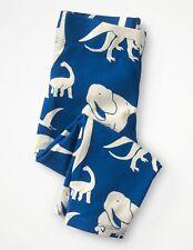 Girls Mini Boden Dinosaur Capri Cropped Leggings SIZE 11-12 Blue White