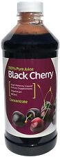 100% Pure concentrado de jugo de cereza negra, 473ml, para gota, artritis, migraña