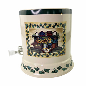 Crazy Mountain Large Jar Candle Warmer Country Bird Houses Sun Flower Ivy
