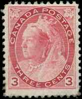 Canada #78 mint F-VF OG NH 1898 Queen Victoria 3c carmine Numeral CV$250.00