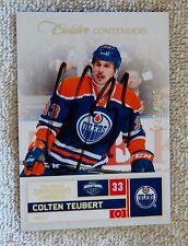 Edmonton Oilers Colton Teubert Signed 11/12 Panini Contenders Rookie Card #/999